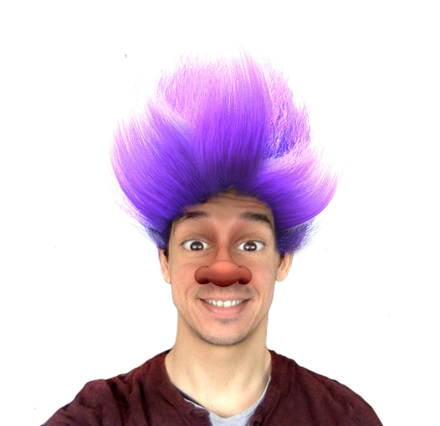 Graphic of a Trolls face filter