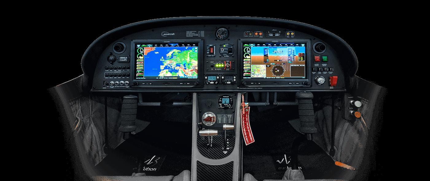 Vue sur l'avionics d'un VL3 evolution