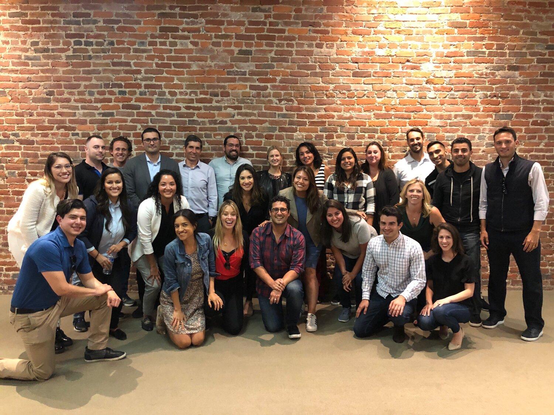 Latinx team grows. A meeting of 30 latinos and latinas