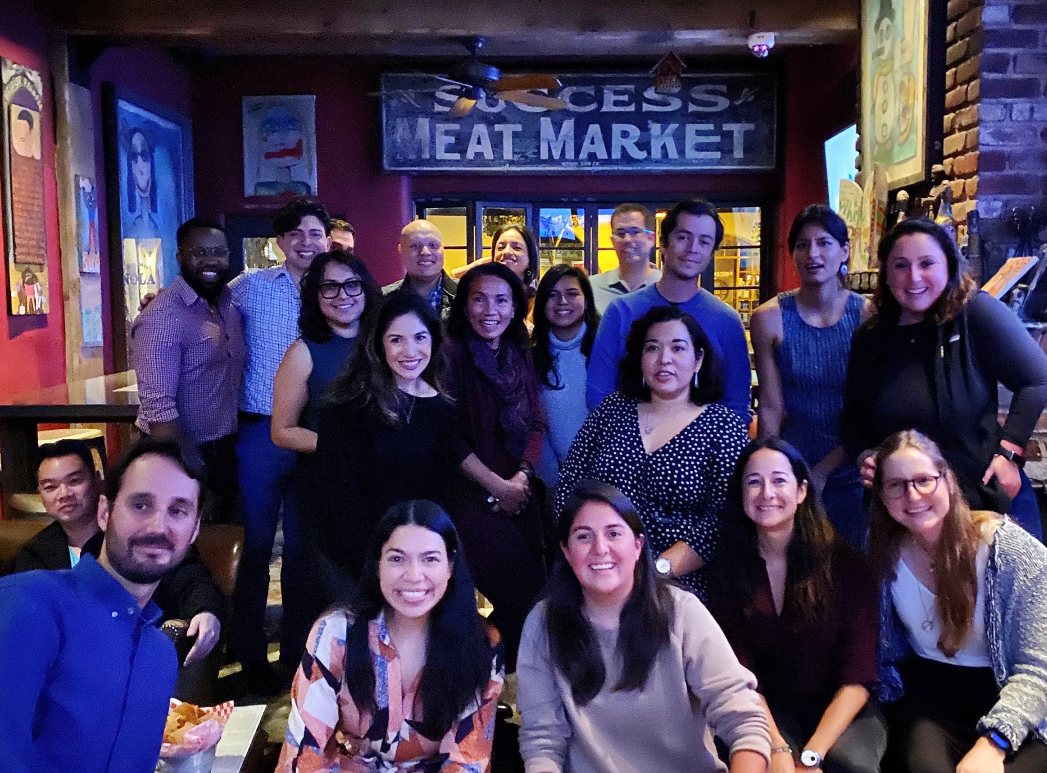 Latinos in a Social Happy Hour