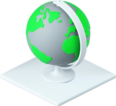 Globe 3d graphic