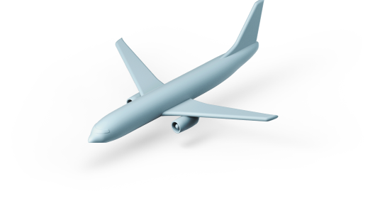 Plane 3d graphic