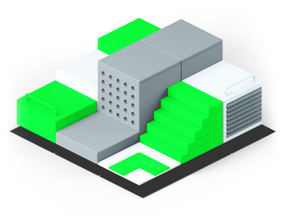 Warehouse 3d graphic