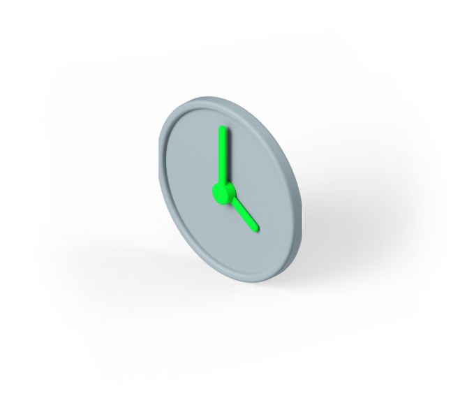 Image of a 3d clock graphic