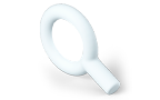 3d graphic of a magnifying glass