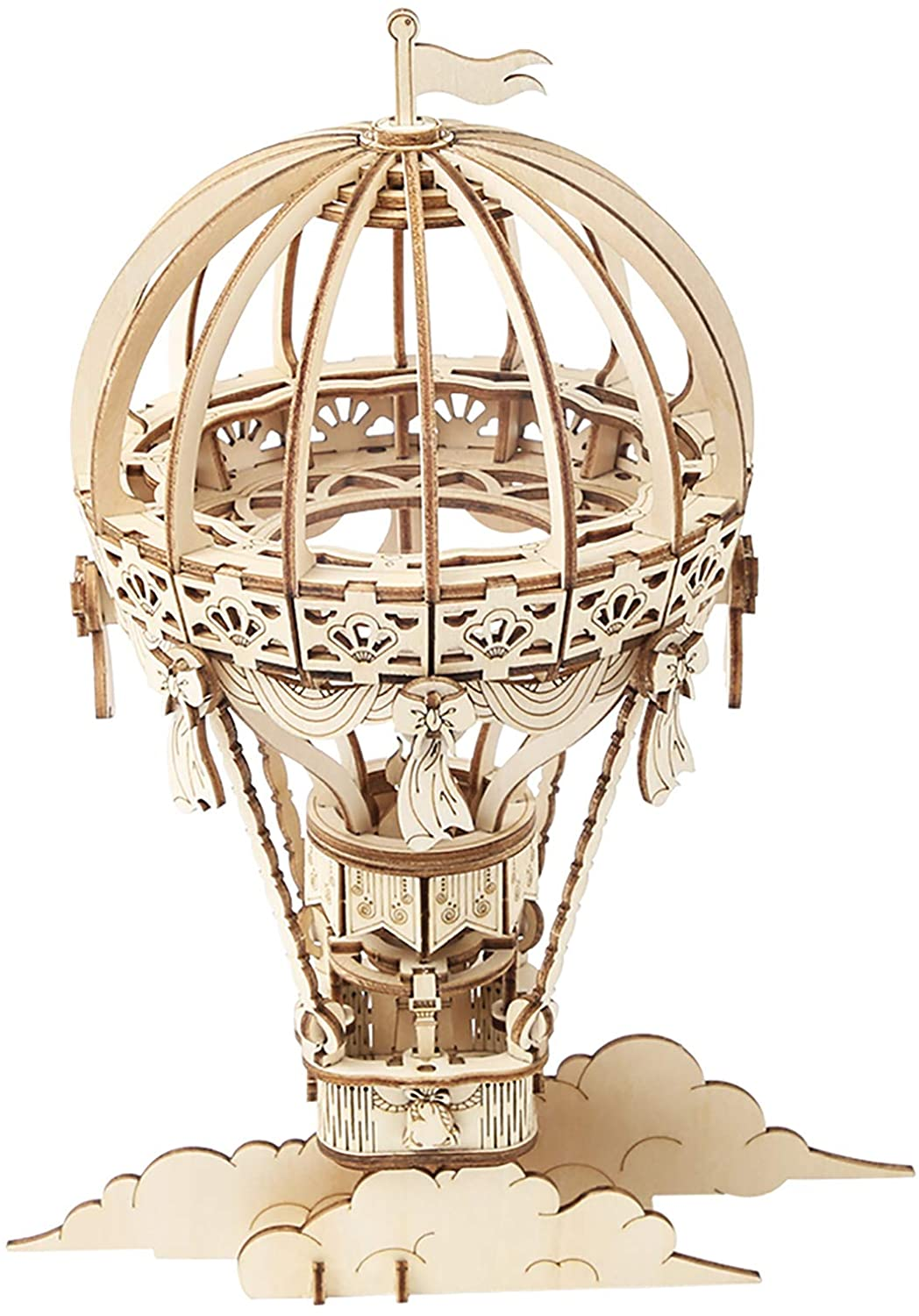 Wooden hot air balloon puzzle