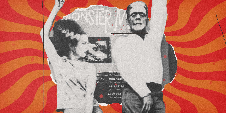 Frankenstein (Boris Karloff) & Bridge of Frankenstein (Elsa Lanchester) dancing