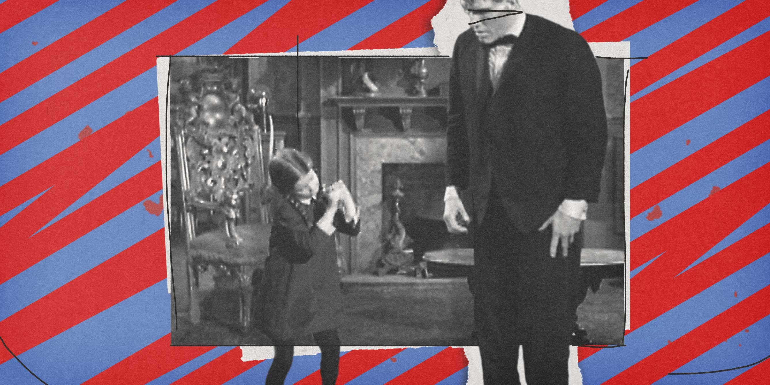 Wednesday Addams teaches Lurch to do the Droop