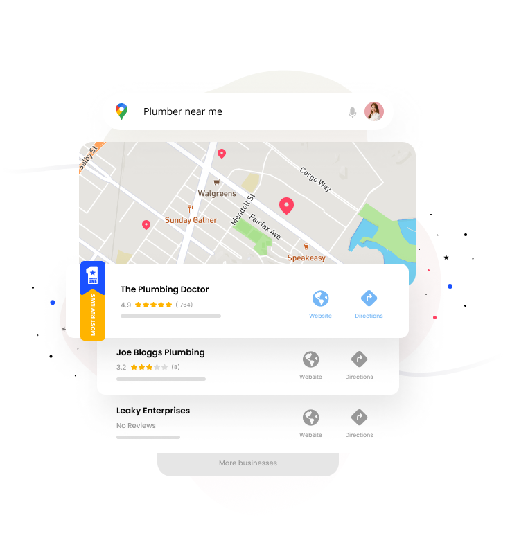 Show up first on Google and other review sites