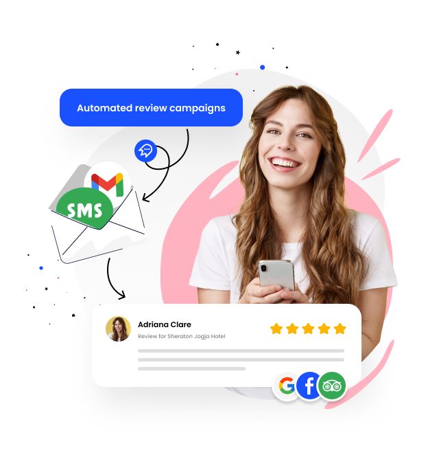 Get more reviews using Cloutly review campaigns
