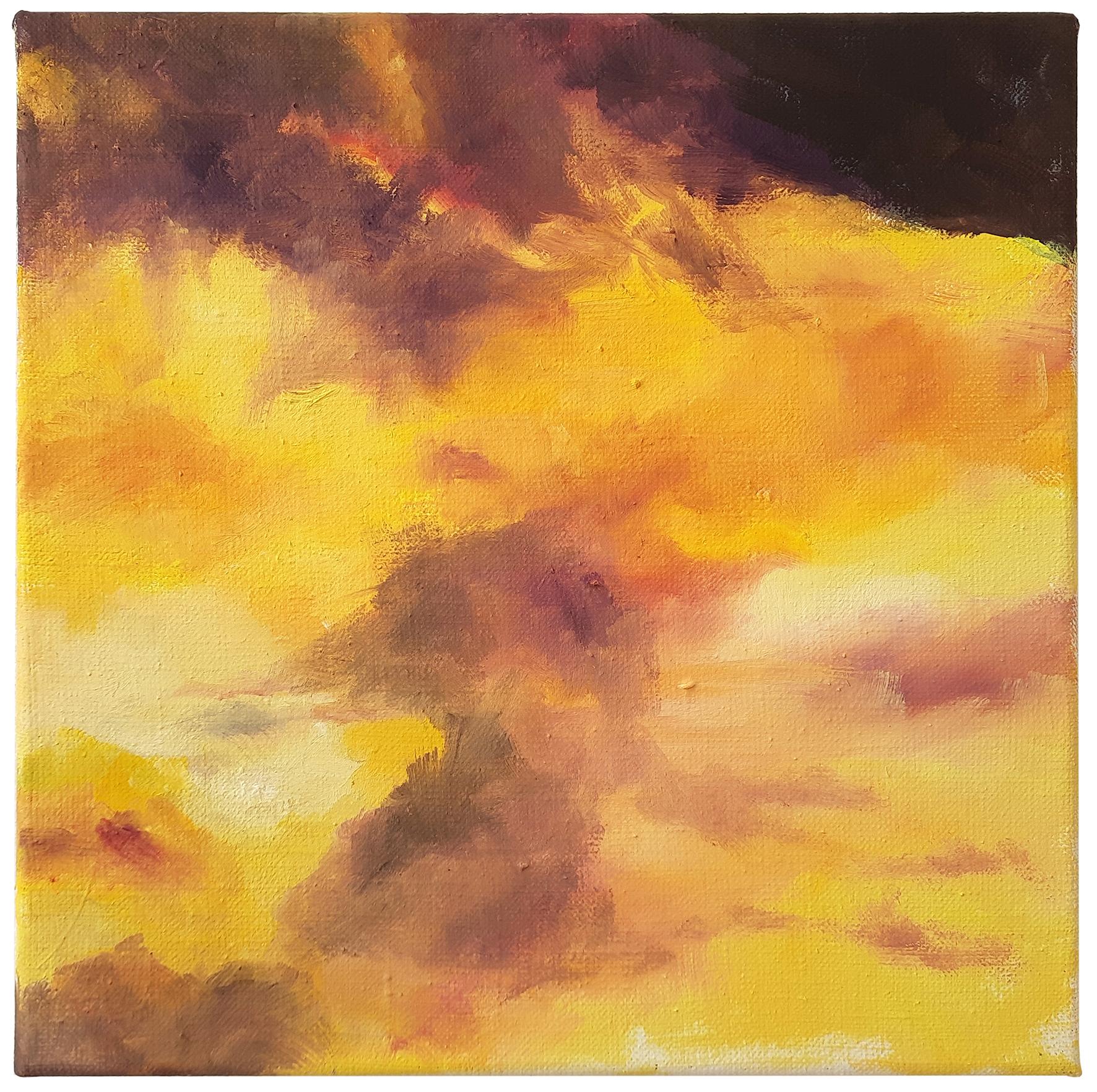 Wolken-gelb-VII, 2020, Öl/Leinwand, 30x30cm