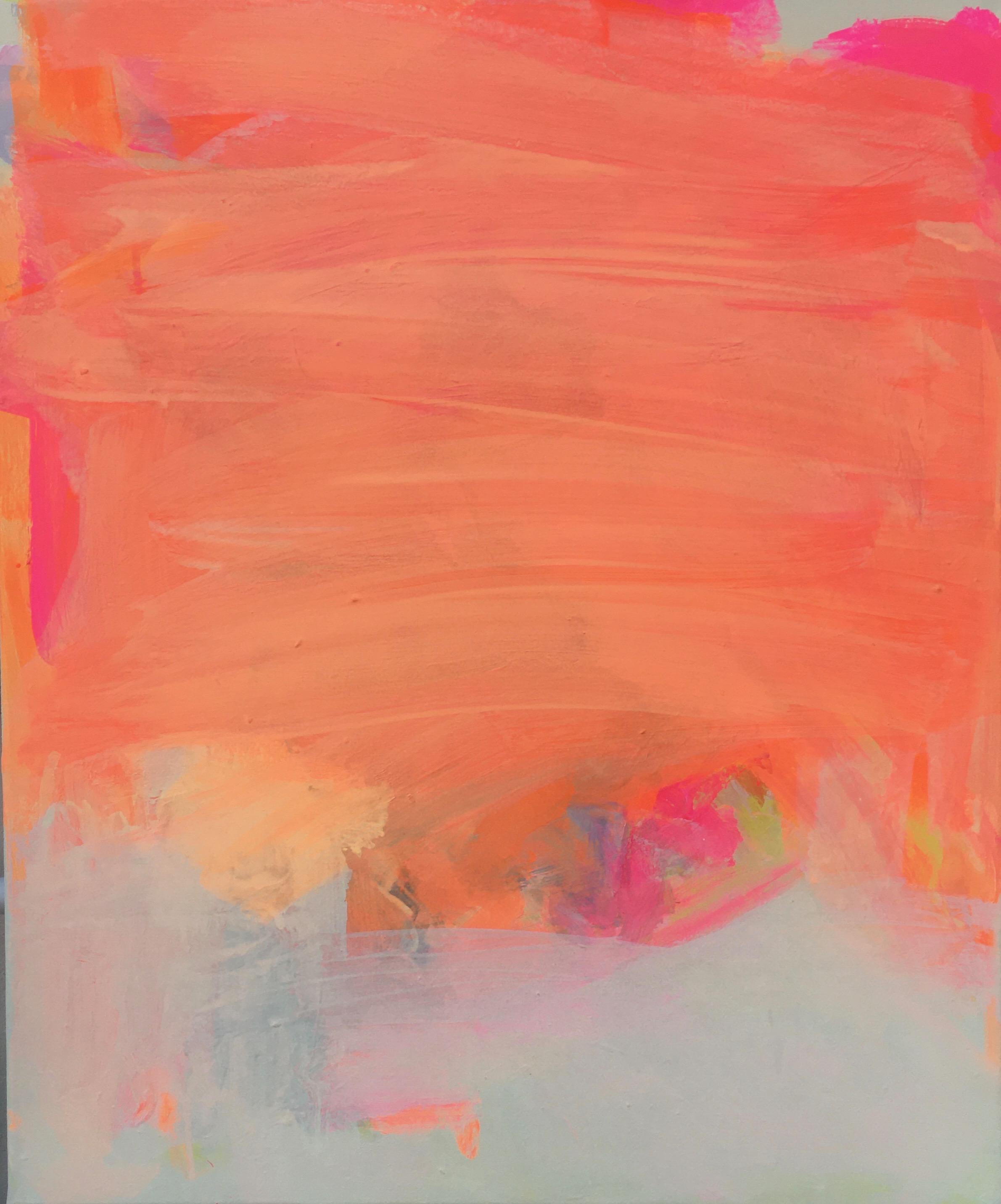 Orange Emotion, 2021, Acryl auf Landwand, 60 x 80cm