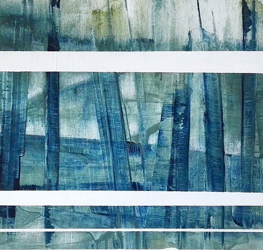 """""""Das Rauschen"""", 2021, geschnittenes Papier, 70x50cm"""