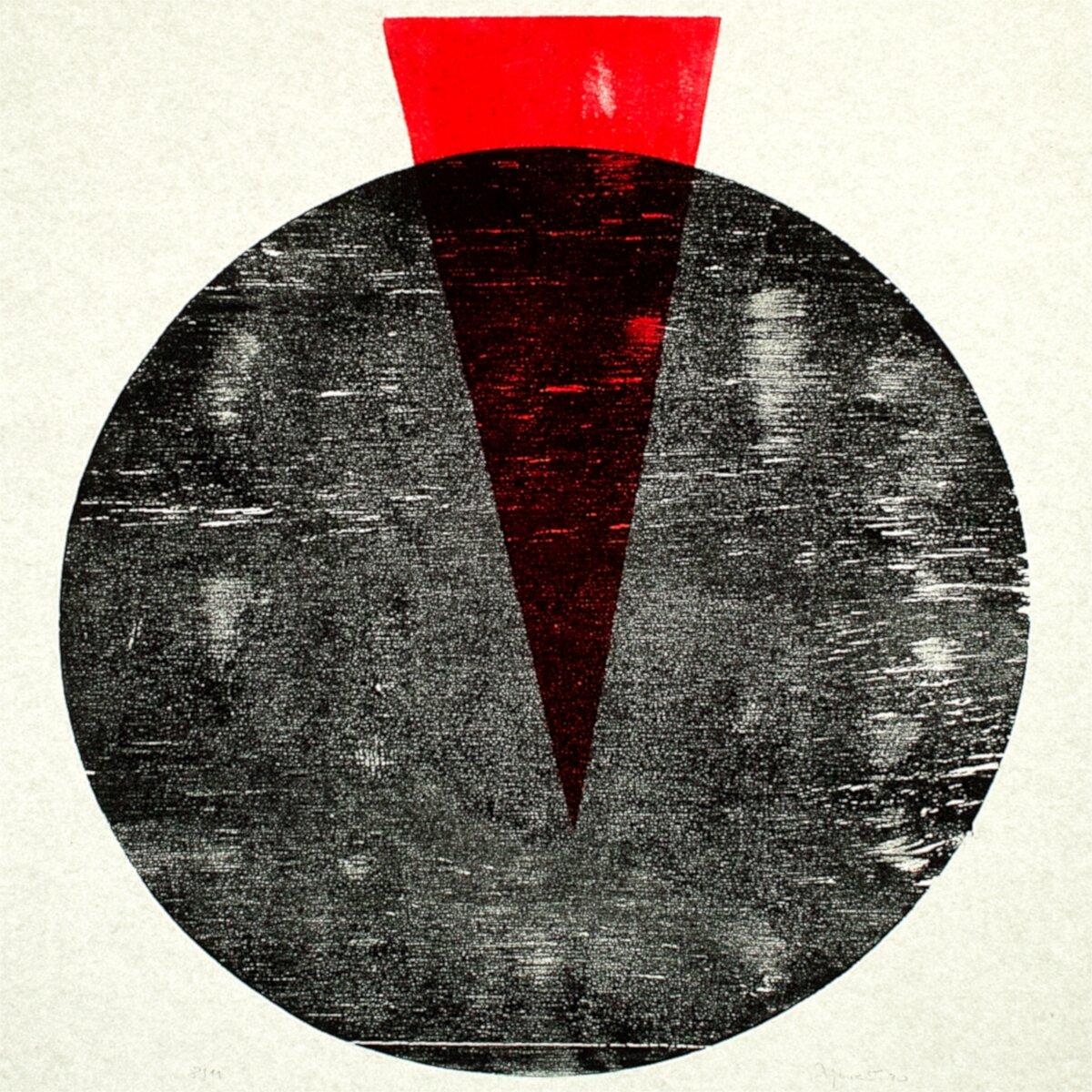 ohne titel, Holzschnitt auf Papier, 33 x 38cm, 2021