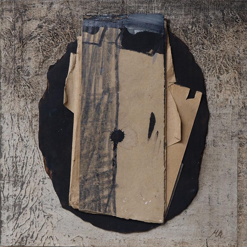 """""""Object trouvé"""", Mischtechnik auf Holz, 30 x 30 x 3 cm, 2016"""