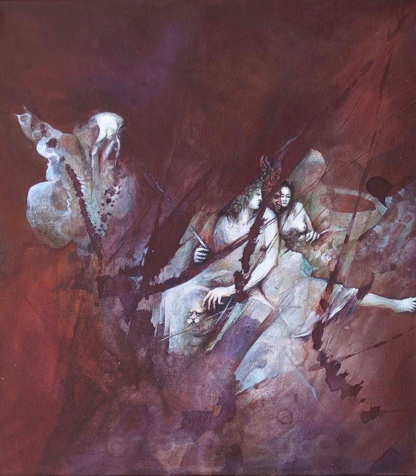 ETUDES, GbT IV 2019, Acryl auf Leinwand, 40 x 45 cm