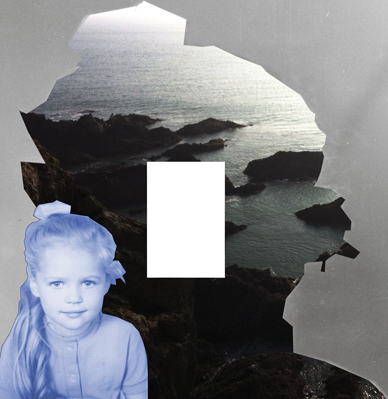 """FBI. In Cornwall"", 2017, Fotomontage, 30 x 30 cm"