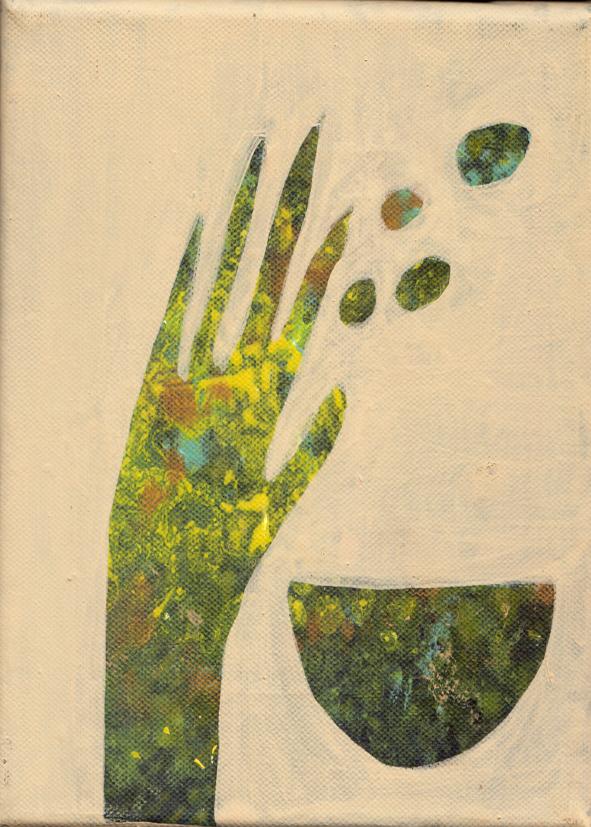 Kreislauf, Nr 2 von 6, 2020, Acryl auf Leinwand, Einzelbild 20x20cm