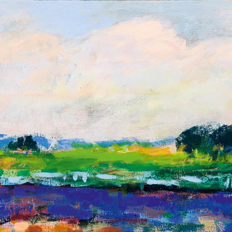Gondwana   Ulrike Hansen, Am Fluss, 2011, Eitempera auf Leinwand, 50 x 70 cm
