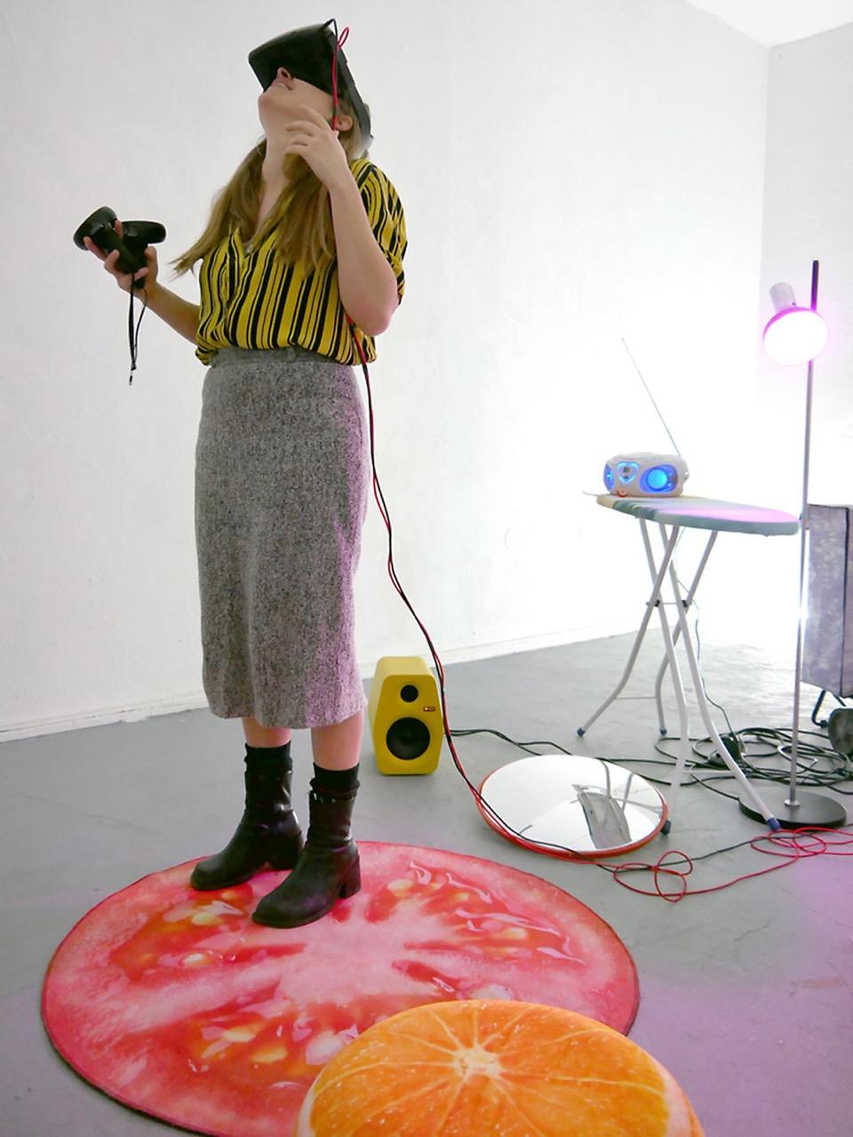 Samuel Perea Diaz: 'The wonderful everyVRday is coming' Sound Installation/Virtual Reality 28.02.2020 - 01.03.2020 - SoundsAbout@Zwitschermaschine © Victor Yrigoyen