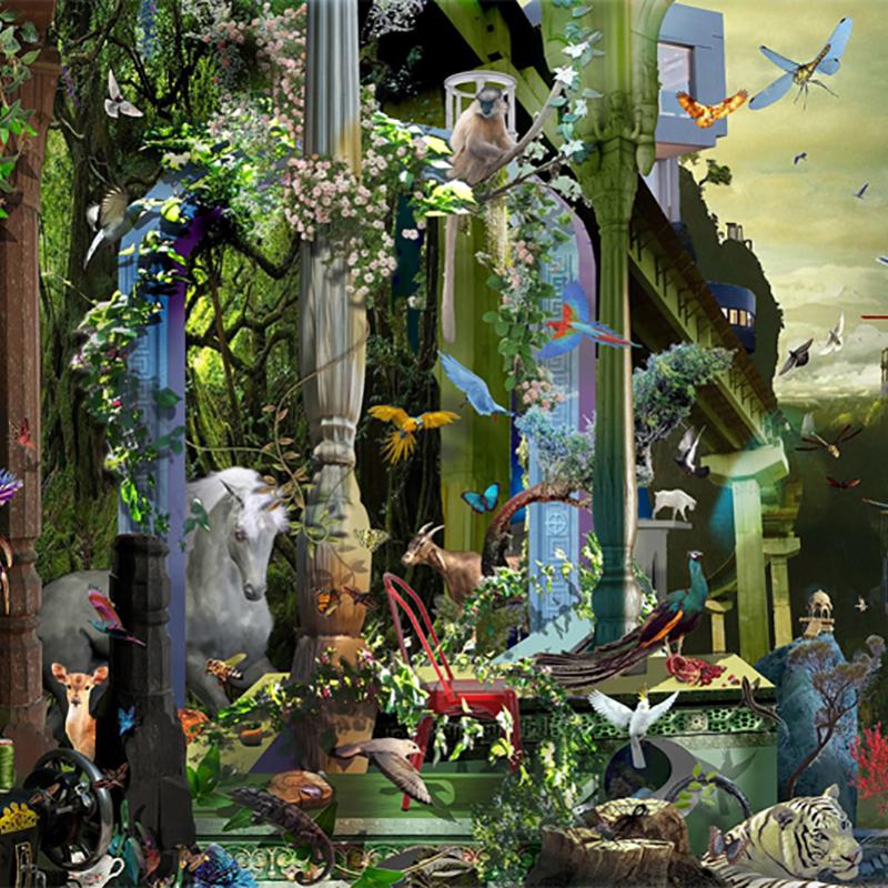 Urban Utopia, 2015- digital painting, 1/3 , 2015, 160x100 cms ©Ranbir Kaleka