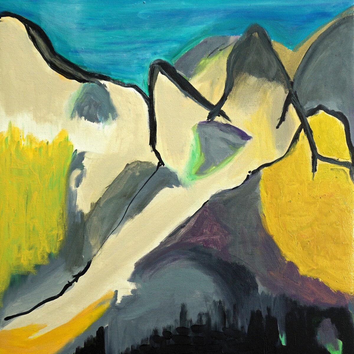 Miae Kim, Wachsende Berge (Ausschnitt), 2021, Öl auf Leinwan 60 x 50 cm