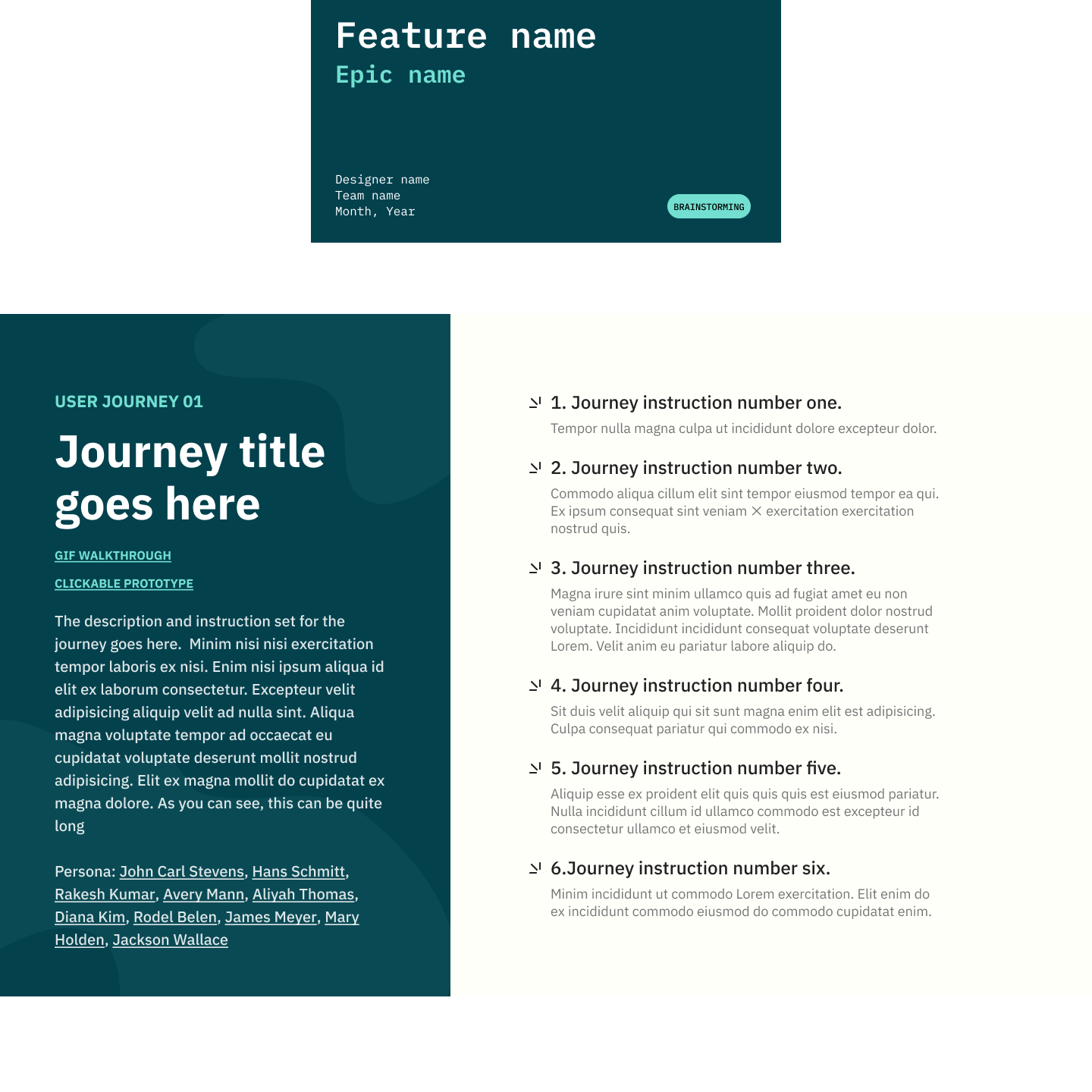 Project work flow covers to aid PMs and Developers in understanding the described journey.