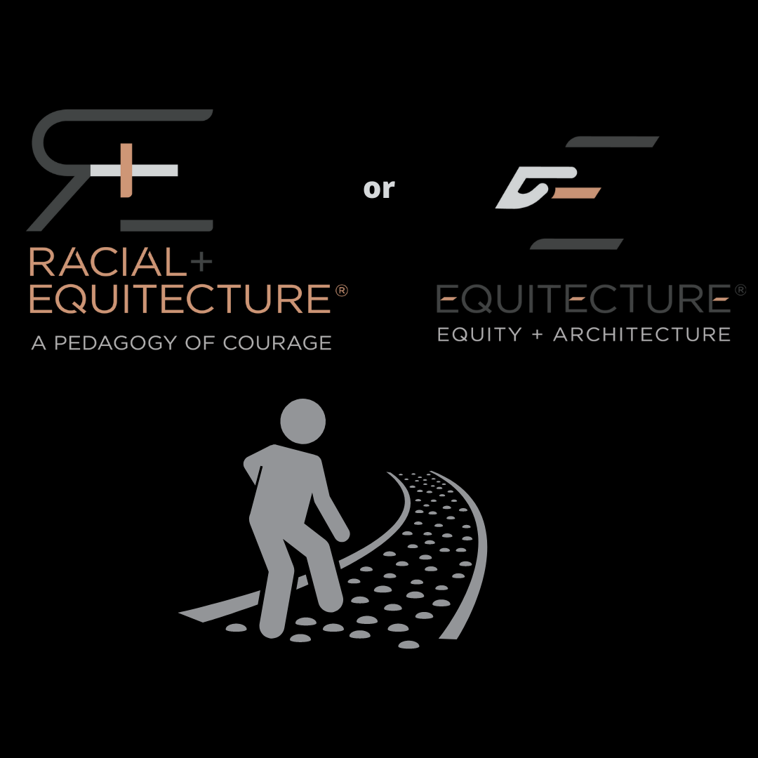 image of The Equitect client at a fork in the road, choosing which direction to take - toward anti racism strategies or DEI training