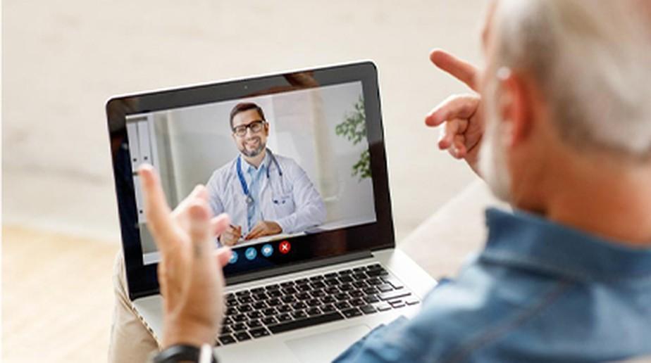 Aplicativo de telemedicina desenvolvido pela Castro & Barros para a Maida Health.