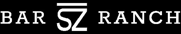 Bar SZ Ranch logo in white