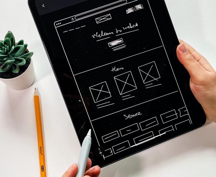 Web designing layout