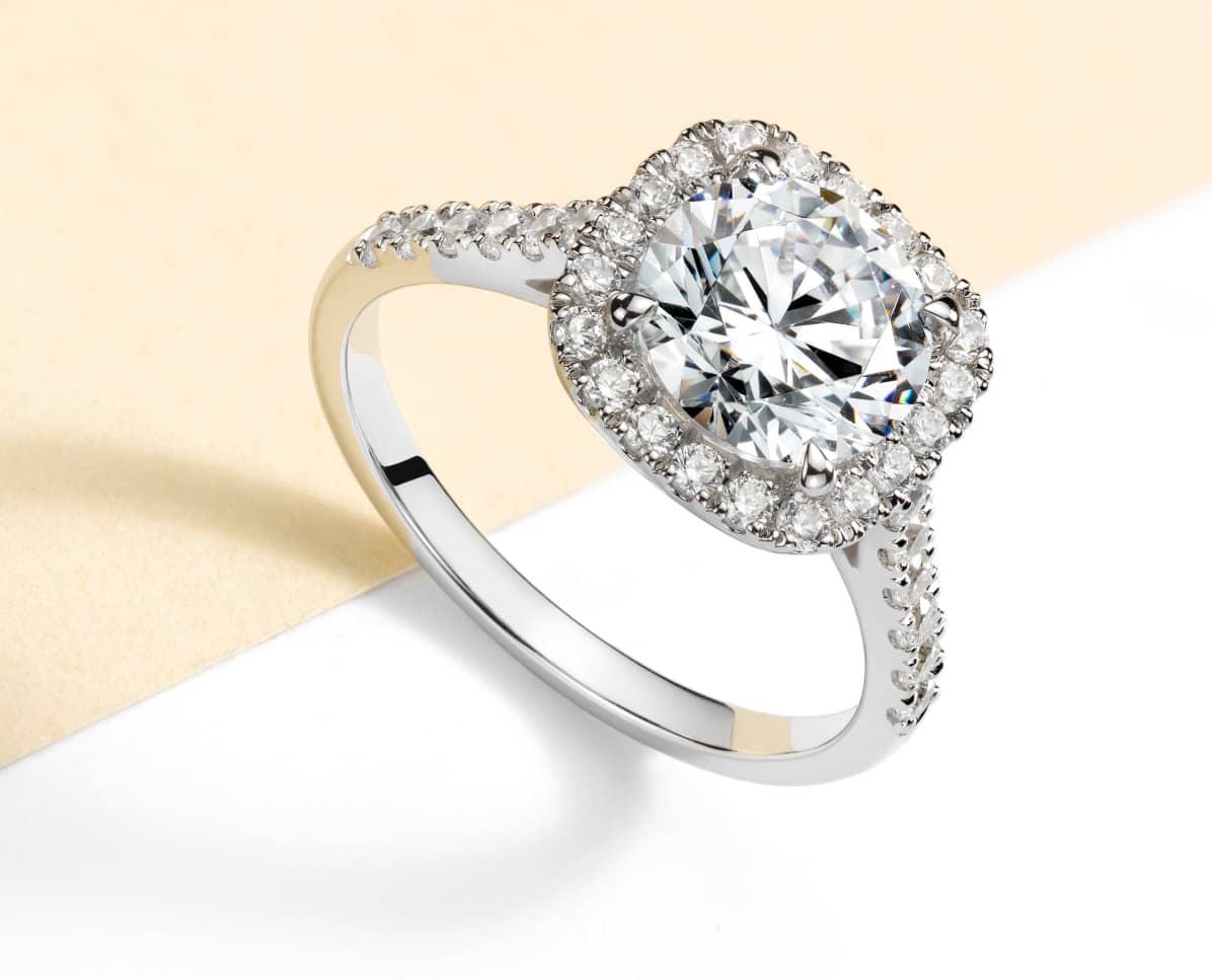 Alliance diamant or blanc