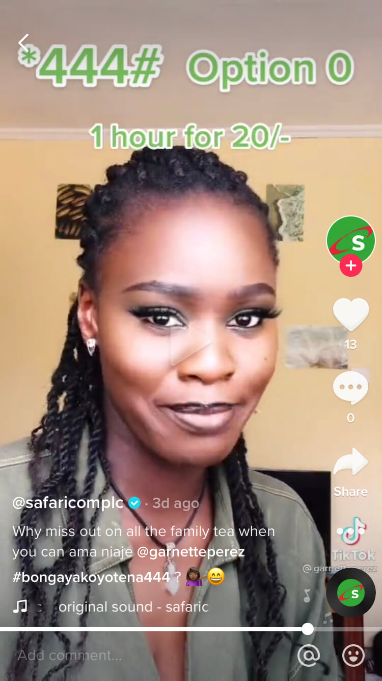 Wowzi influencer campaign with Safaricom