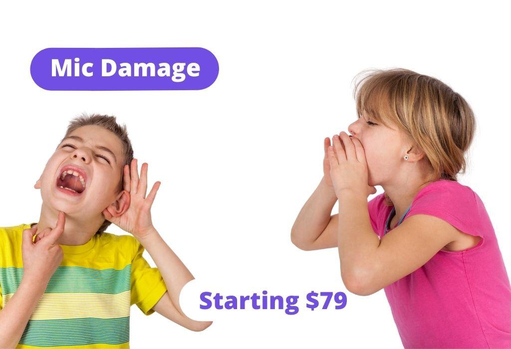 Mic damage: Starting $79