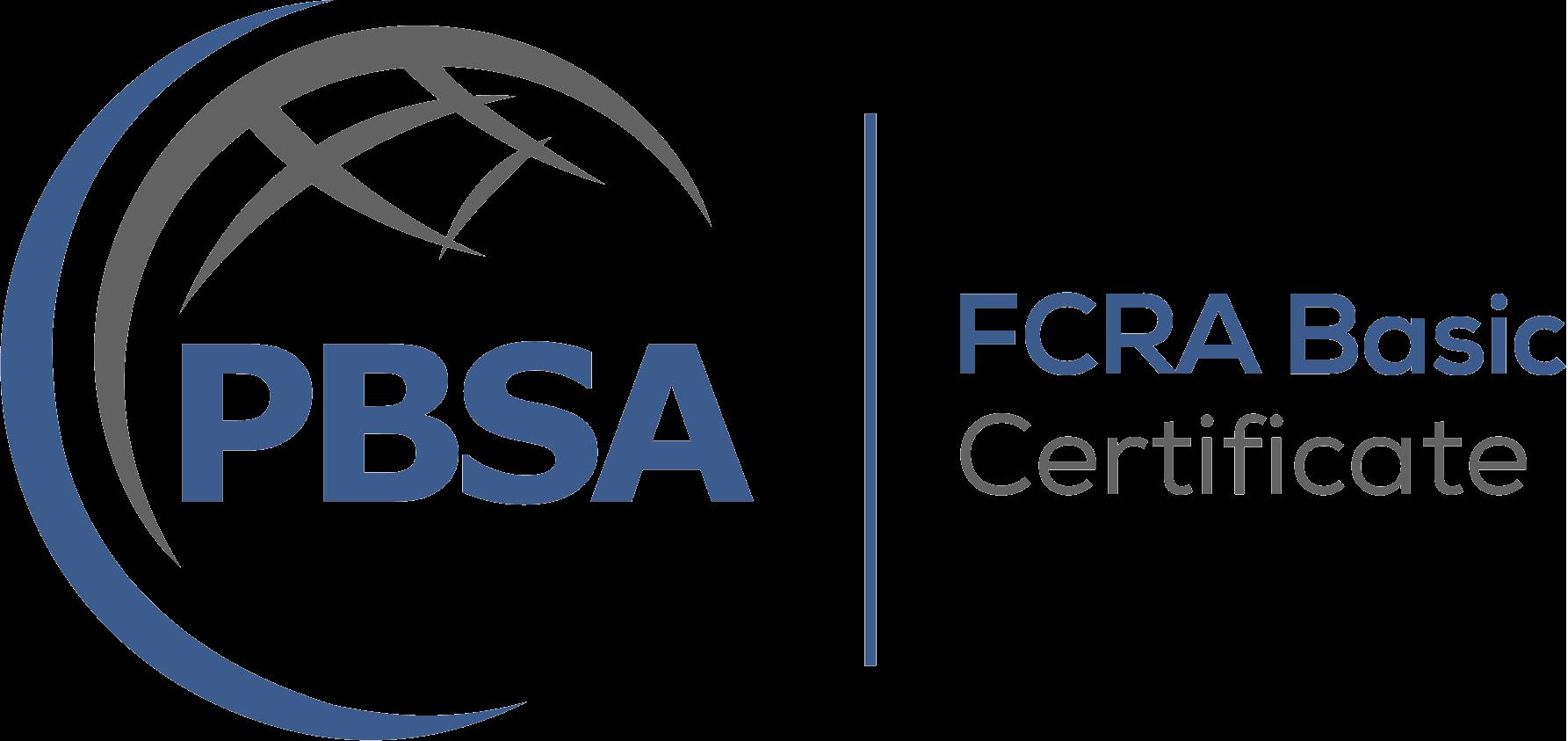 FCRA Basic Certificate Logo