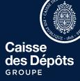 Logo Caisse des dépots bleu