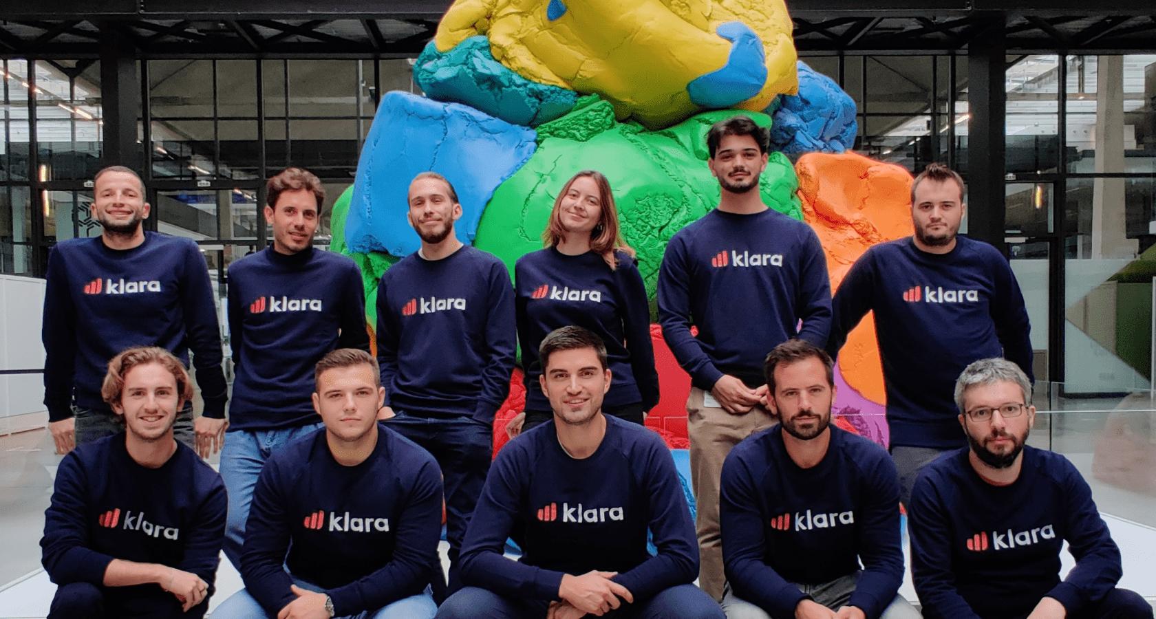 L'équipe Klara à Station F