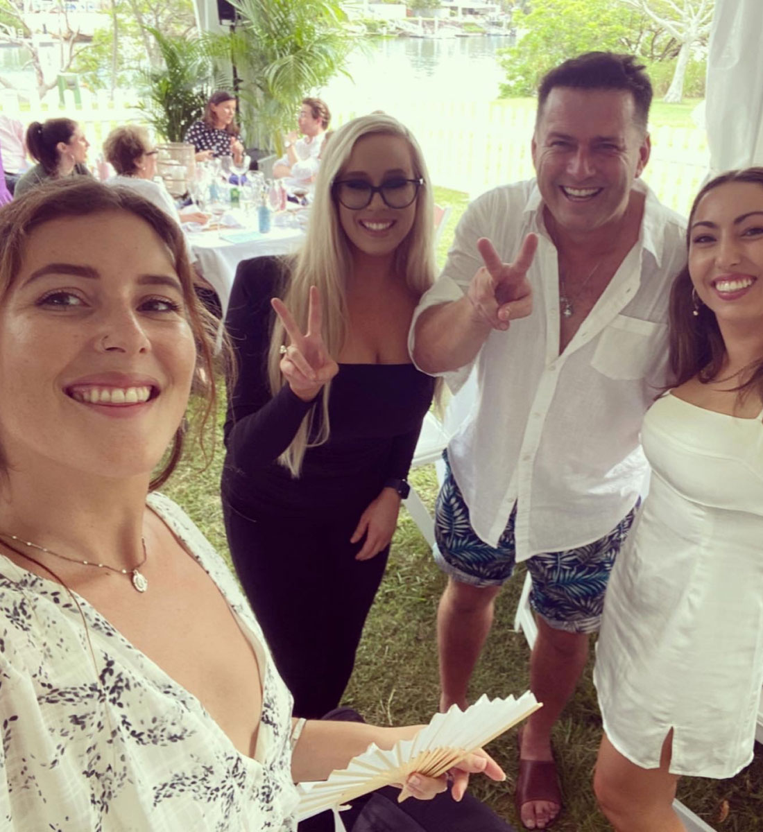The Yellowpanda team with Karl Stefanovic at the young care long lunch at Noosa
