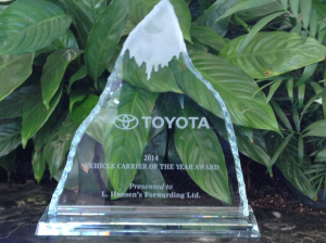 Toyota Carrier of the Year 2014