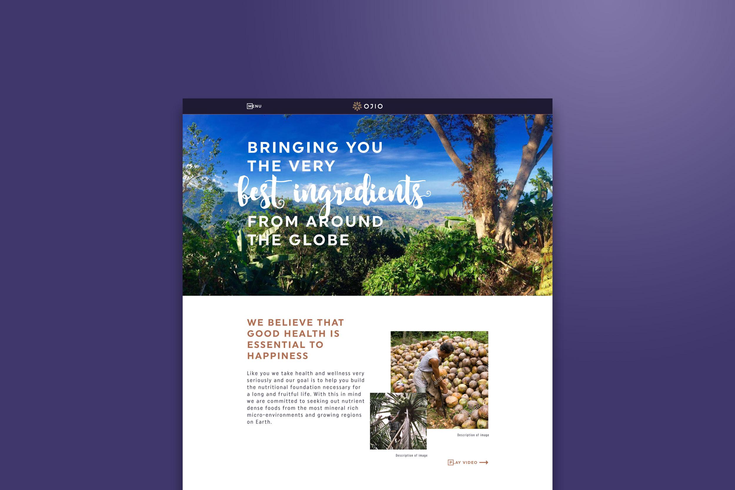 OJIO site homepage