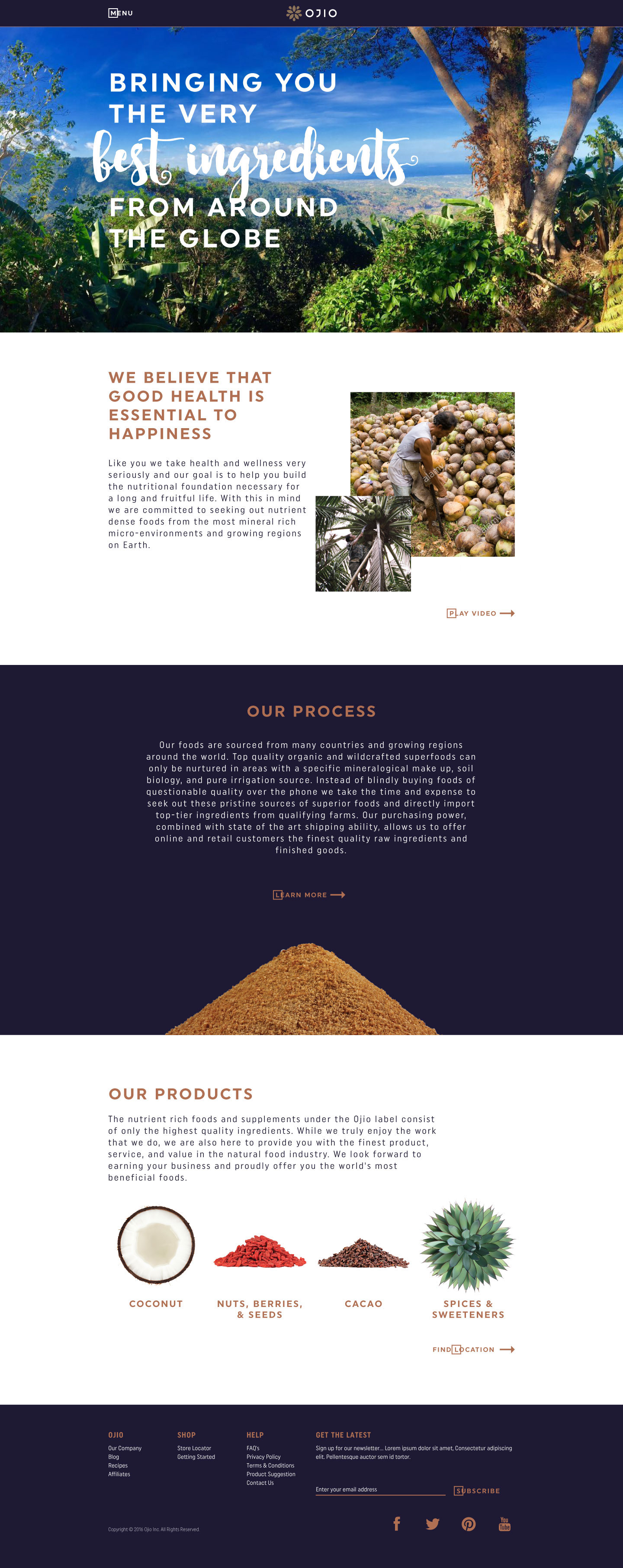 desktop OJIO home page