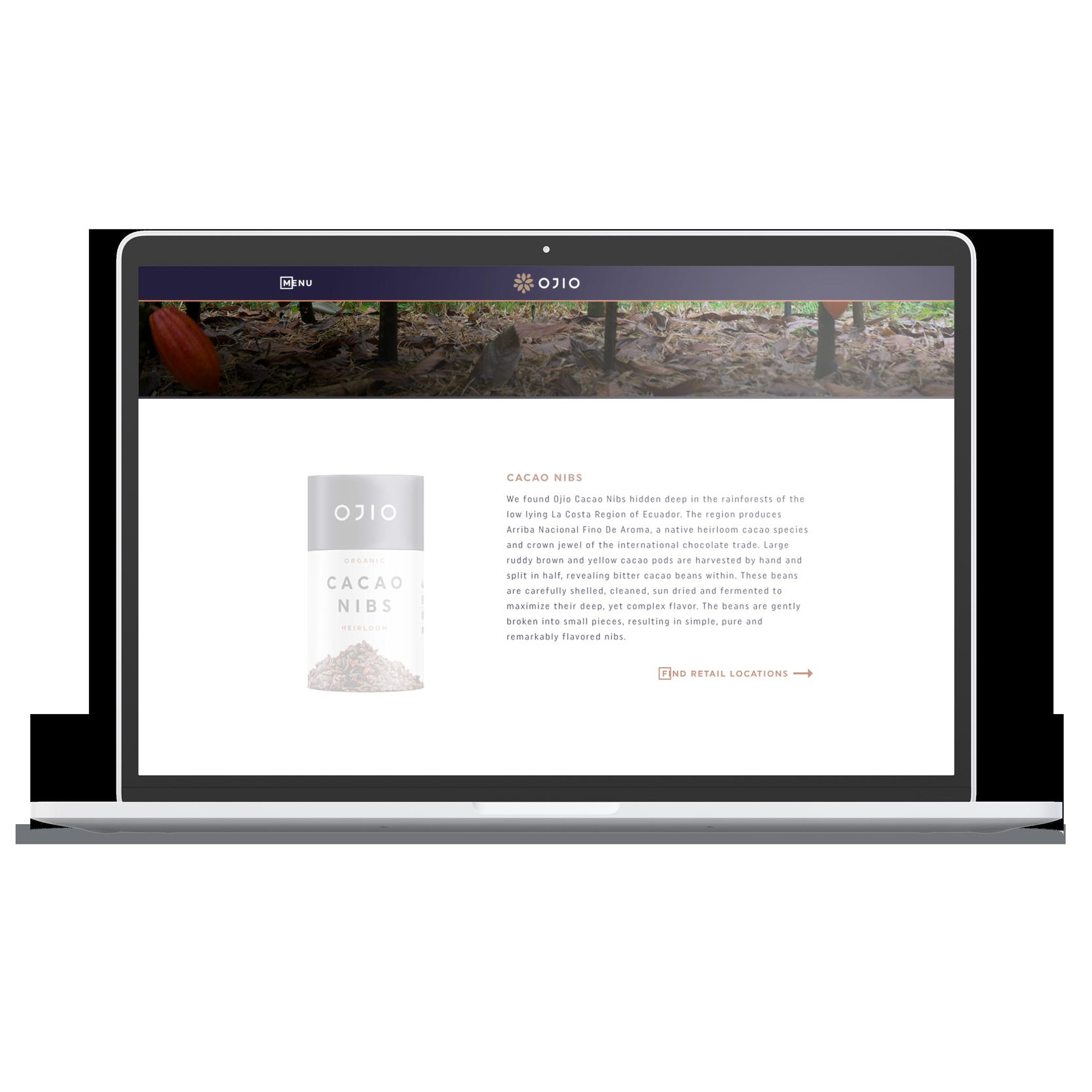 laptop desktop OJIO product page summary