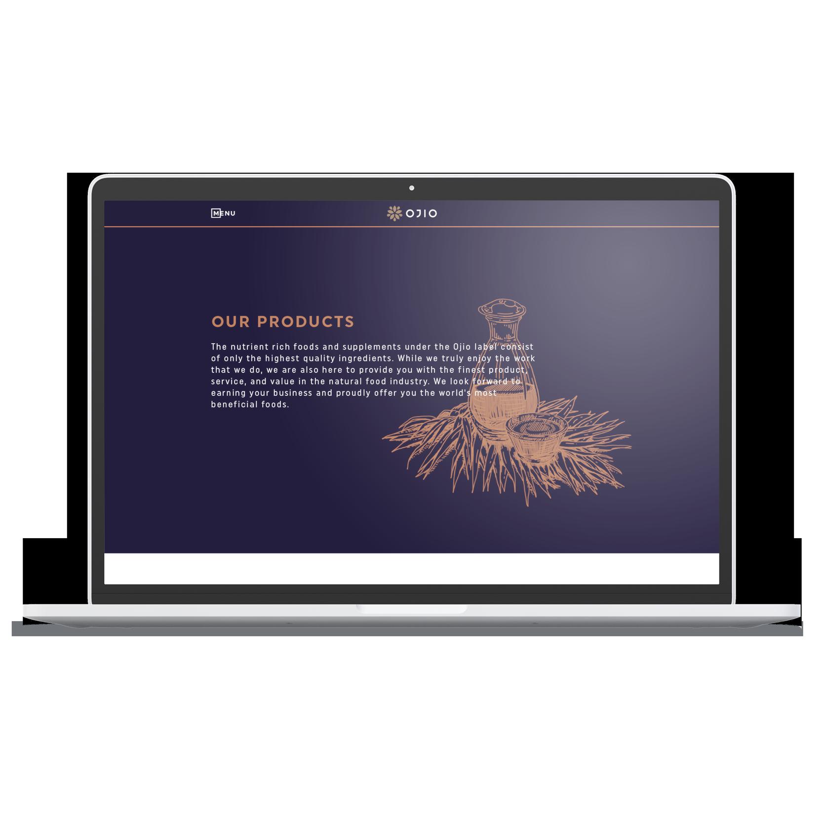 laptop desktop OJIO products page hero image
