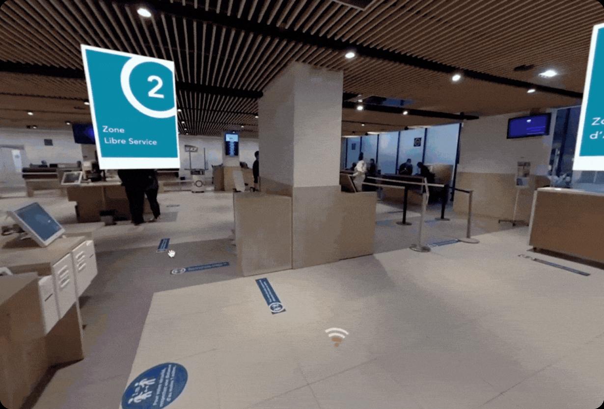 Image d'une simulation de conversation en VR pour SNCF AES