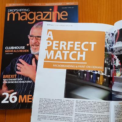 Gastartikel über Microbranding und Print-on-Demand im Dropshipping Magazine – Fachmagazin für Dropshipping
