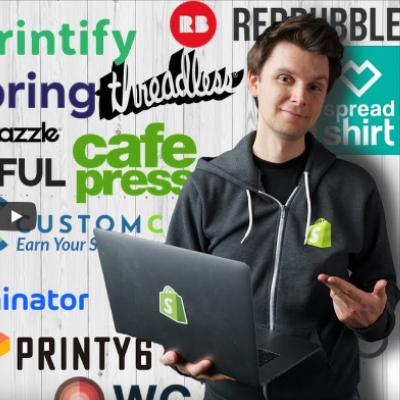 Video über etablierte Print-on-Demand-Anbieter von Frank Bendler – YouTuber, Business Coach und Spezialist für Print-on-Demand und E-Commerce