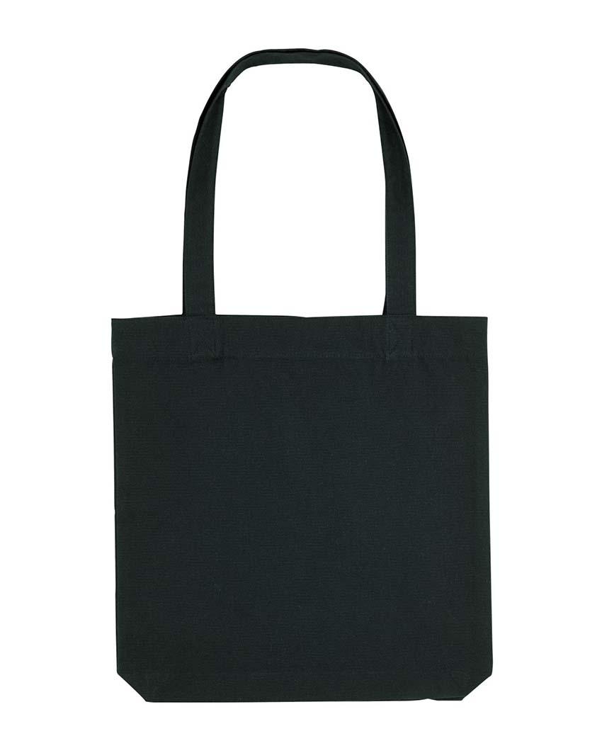"""Schwarze Stofftasche mit Aufdruck """"Dein Design"""""""
