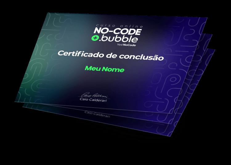 Curso de Bubble e No-Code Certificado de Conclusão