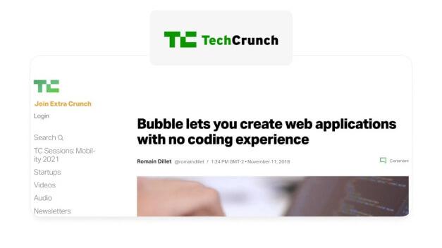 Notícia Bubble