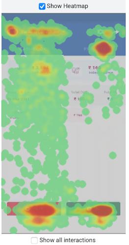 Understanding user intent with heatmaps